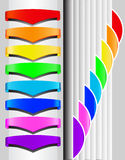 Set multicolored labels for text with shade Royalty Free Stock Photo