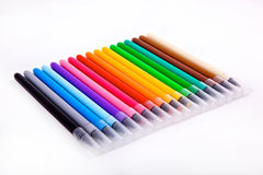Set of multicolored markers Stock Photo