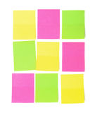 Set of multicolored paper sticky stickers Stock Images