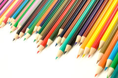 Set of multicolored pencils Stock Image