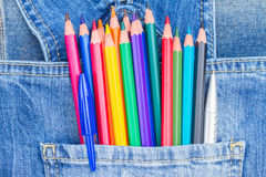 Set of multicolored pencils Stock Images
