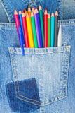 Set of multicolored pencils Royalty Free Stock Photo