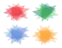Set of multicolored polygons Stock Images