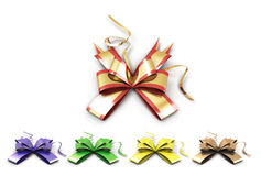 Set of multicolored ribbons Stock Photo
