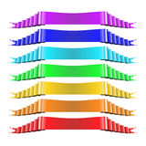 Set of Multicolored Ribbons Stock Images