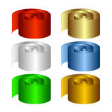 Set of multicolored rolls. Royalty Free Stock Photos