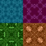 Set of multicolored seamless decorative patterns. Stock Photography