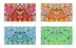 Set of multicolored seamless ethnic borders Stock Photo
