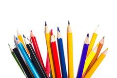 Set of multicolored sharpened pencils Stock Image