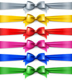 Set of multicolored shiny ribbons Stock Photo