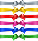 Set of multicolored shiny ribbons Royalty Free Stock Photo