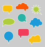 Set of Multicolored Speech Bubbles Royalty Free Stock Photo