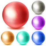 Set of multicolored spheres Royalty Free Stock Photo