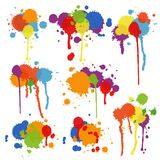 Set of multicolored stains and blots Stock Photos