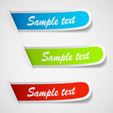 Set of multicolored sticker labels Royalty Free Stock Images