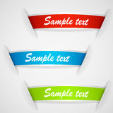 Set of multicolored sticker labels Stock Photos