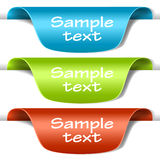 Set of multicolored tag labels Royalty Free Stock Photography