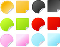 Set of multicolored vector badges Stock Photo