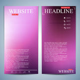 Set of multicolored vertical backgrounds. Modern page website design template. Vector Illustration Stock Photos
