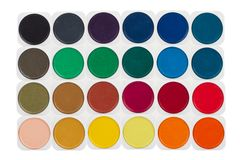 Set of multicolored watercolor paints Royalty Free Stock Photo