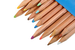 Set of multicolored wood pencils. Stock Images