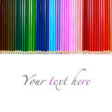 Set of multicolored wooden pencils isolated on white Stock Images