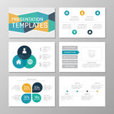 Set of multicolour template for multipurpose presentation slides with graphs and charts. Leaflet, annual report, book Royalty Free Stock Image