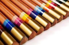 Set of multicoloured pencils royalty free stock photography