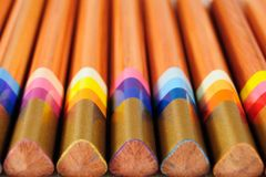Set of multicoloured pencils Royalty Free Stock Images