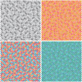 Set multicoloured seamless textures Stock Photography