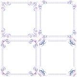 Set Multilayer vector violet blue elegant frame Stock Images