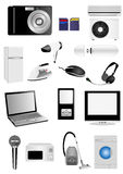 Set of multimedia elements isolated Stock Photography
