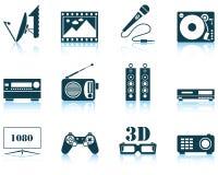 Set of multimedia icon Stock Image