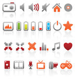Set of multimedia icons. Royalty Free Stock Photos