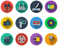 Set of multimedia icons Royalty Free Stock Images
