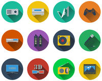 Set of multimedia icons Stock Images