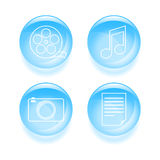 Set of multimedia icons Stock Photos