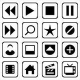 Set of multimedia icons Stock Photography