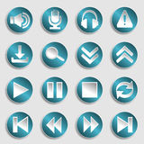 Set of multimedia icons Royalty Free Stock Photography