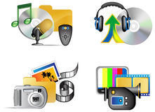 Set of multimedia internet icon Stock Image