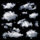 Set of multiple clouds isolated Royalty Free Stock Photos