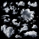 Set of multiple clouds isolated Royalty Free Stock Photography