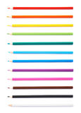 Set of multiple color pencils isolated Stock Photo