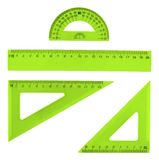 Set of multiple plastic rulers Royalty Free Stock Image