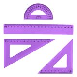 Set of multiple plastic rulers Royalty Free Stock Images