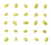 Set of multiple single white grapes Stock Photo