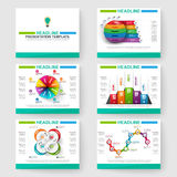 Set of multipurpose presentation infographic for powerpoint Royalty Free Stock Photos