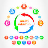 Set MultiVitamins Royalty Free Stock Photos