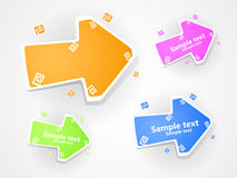 Set of  multucolored arrow. EPS 10. Royalty Free Stock Images