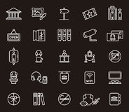 Set of Museum symbols or icons Stock Photos